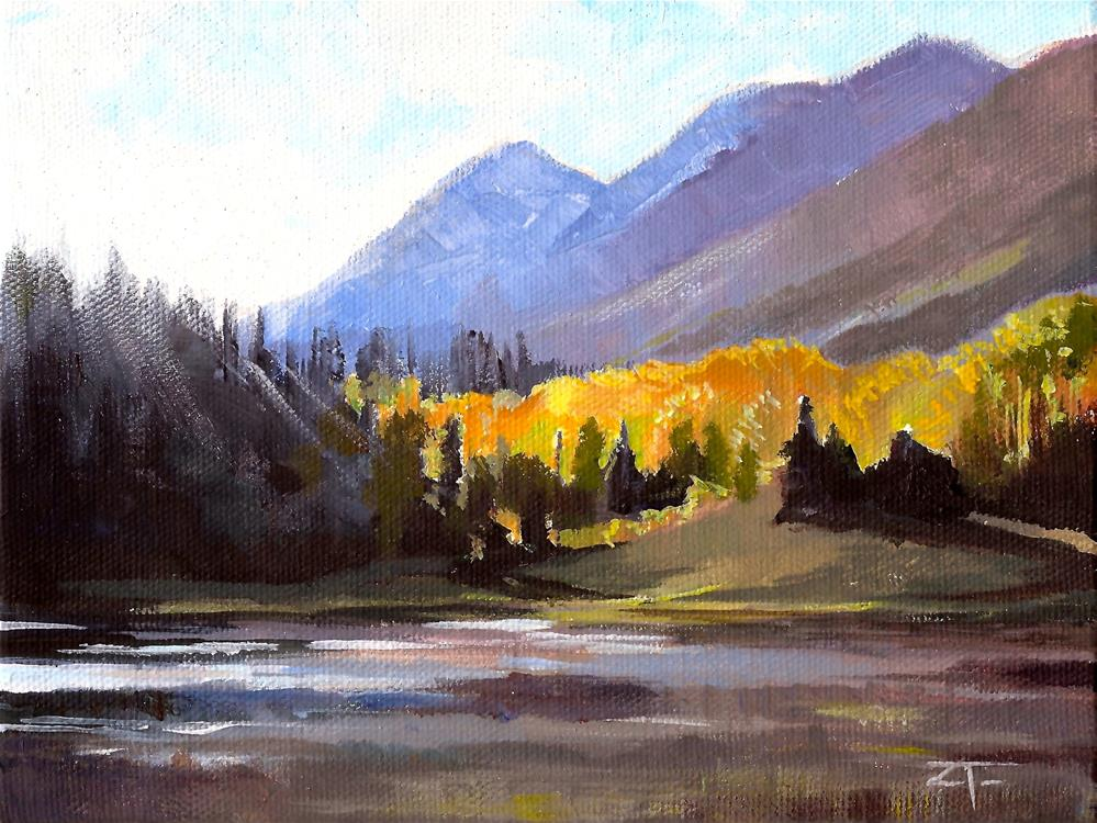 """Beaver Pond Sunset"" original fine art by Zack Thurmond"