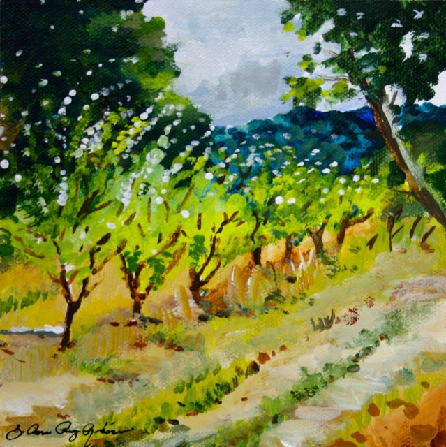 """Old Saratoga Orchard"" original fine art by JoAnne Perez Robinson"