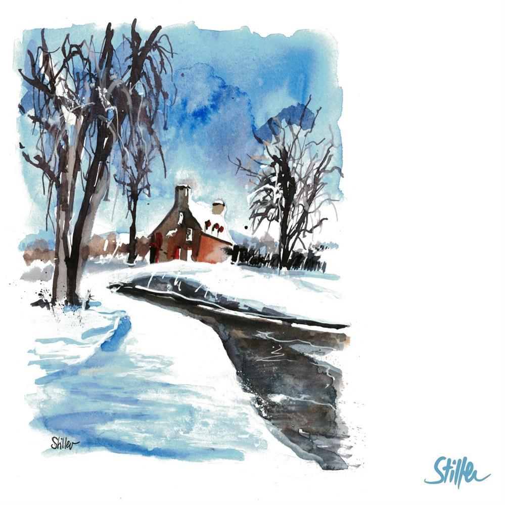 """""""3405 Three Trees in the Snow"""" original fine art by Dietmar Stiller"""