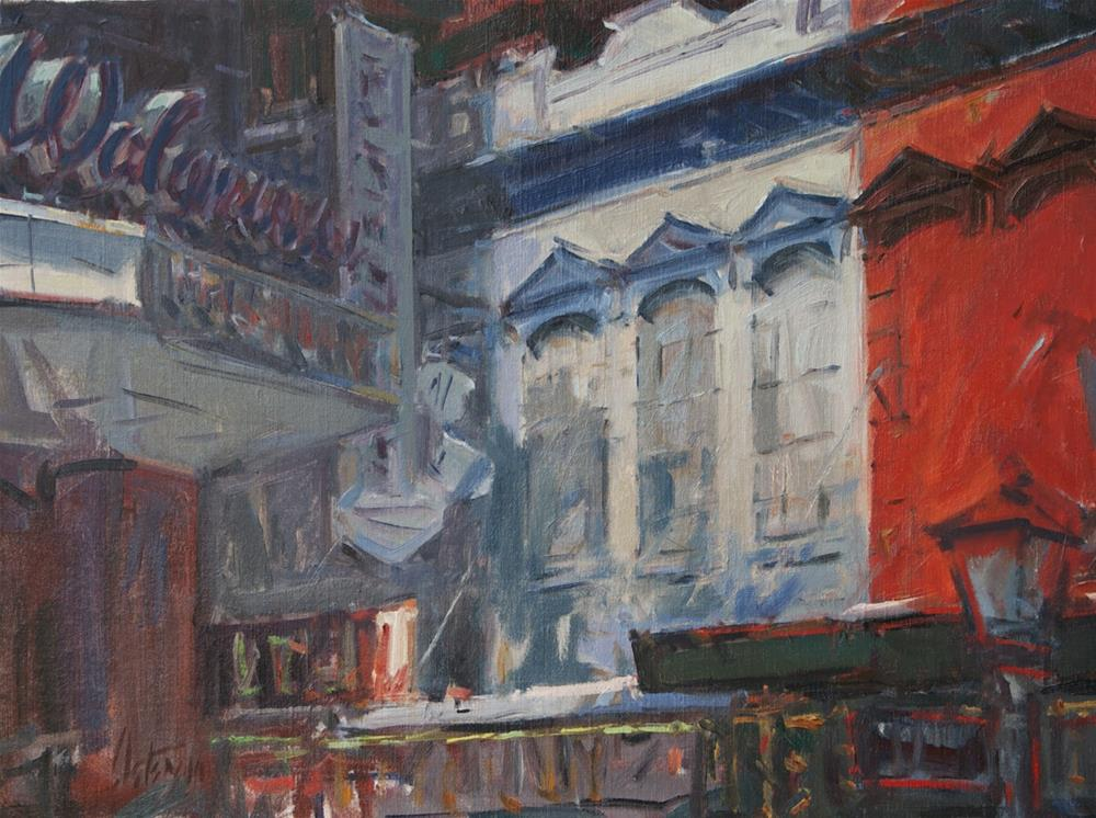 """""""Walgreens, New Orleans"""" original fine art by Mike Peterson"""