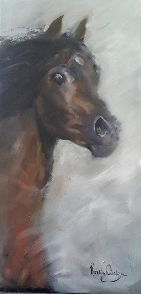 """""""My arabian dream"""" original fine art by Rentia Coetzee"""