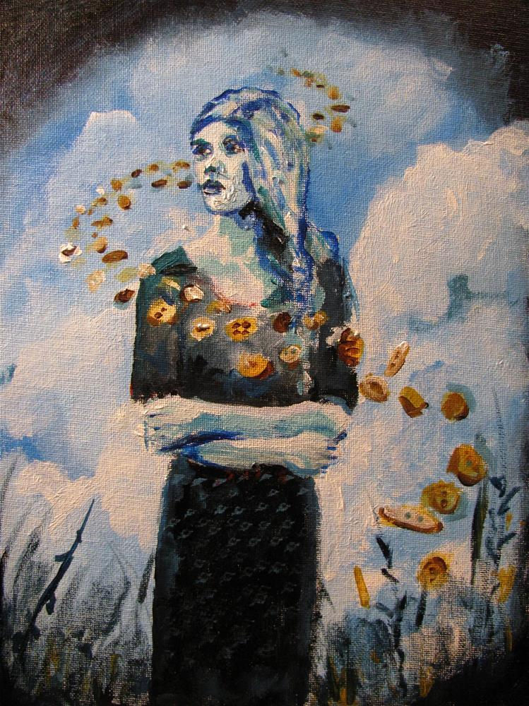 """The Button Legacy (Ginger Marcinkowski)"" original fine art by Susan Elizabeth Jones"