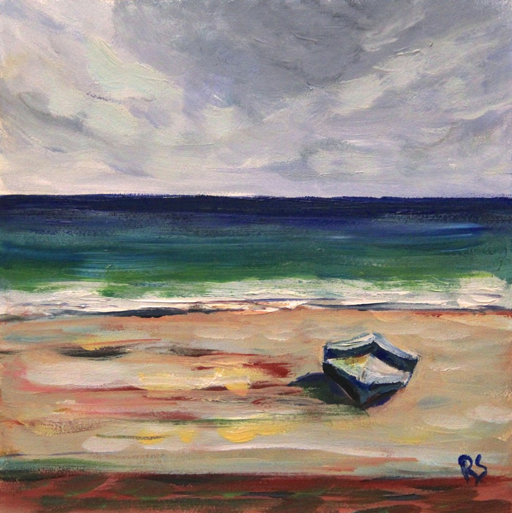 """Alone on the Beach"" original fine art by Roberta Schmidt ArtcyLucy"