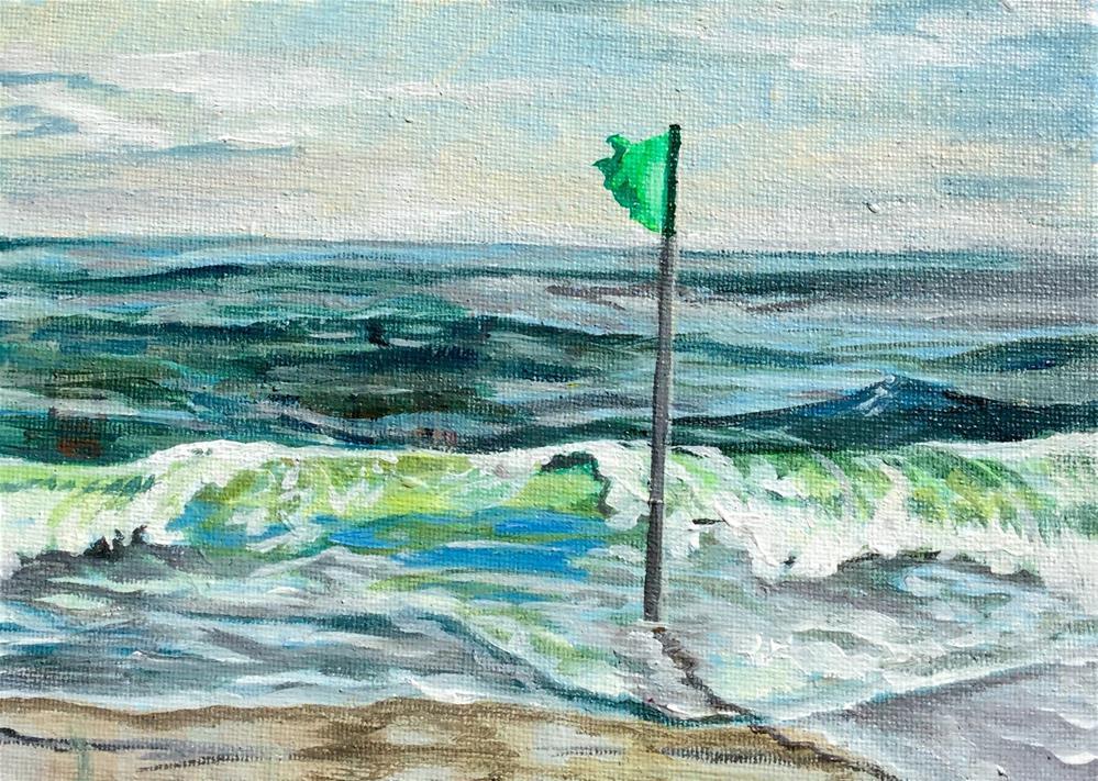 """""""Ocean city VI"""" original fine art by Lauren Kuhn"""
