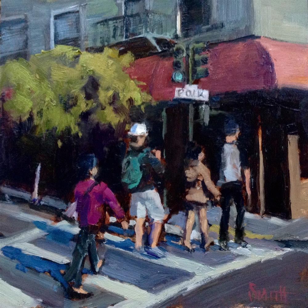 """Crosswalkers"" original fine art by Barbie Smith"