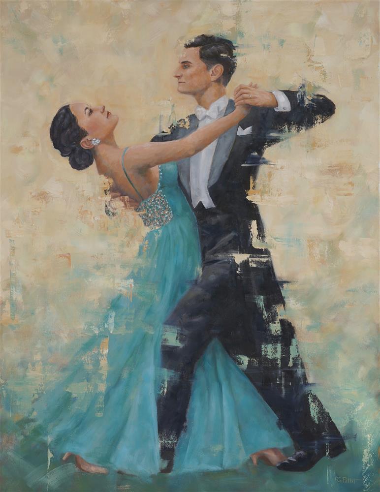 """Ballroom Dancers"" original fine art by Rhea  Groepper Pettit"