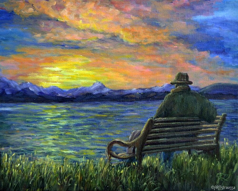 """""""Robinson Sunset"""" original fine art by Gloria Ester"""