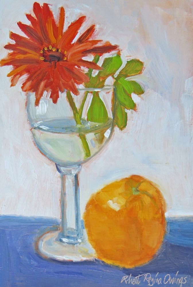 """Orange Toast"" original fine art by Rhett Regina Owings"