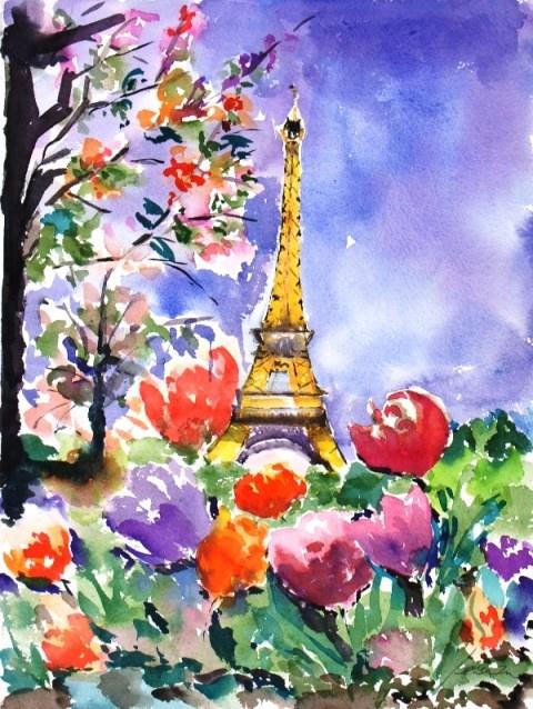 """Spring"" original fine art by Lisa Fu"