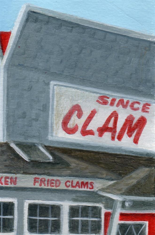 """""""WYWH - Clam Box"""" original fine art by Debbie Shirley"""