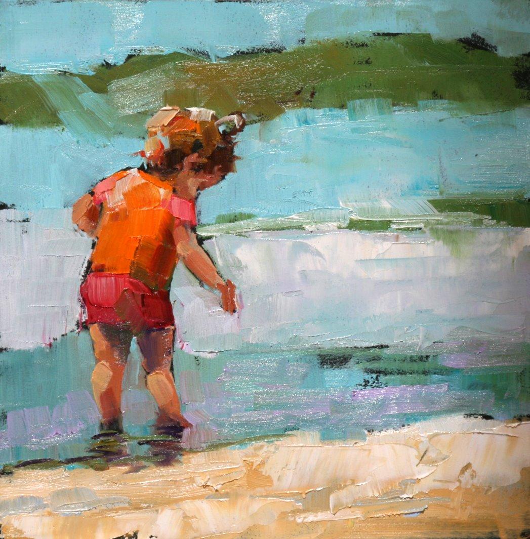 """where'd they go?"" original fine art by Carol Carmichael"