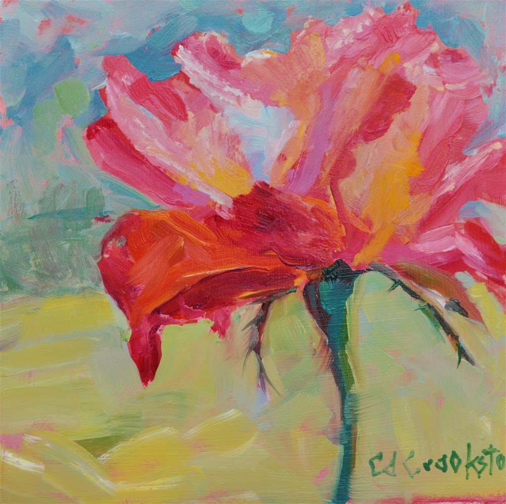 """Chicago Peace Rose"" original fine art by Catherine Crookston"