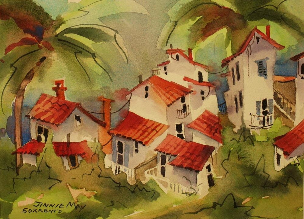 """Sorrento, Italy"" original fine art by Jinnie May"