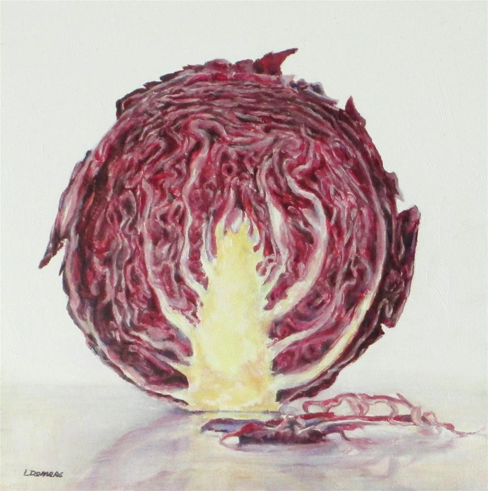 """Red Cabbage"" original fine art by Linda Demers"