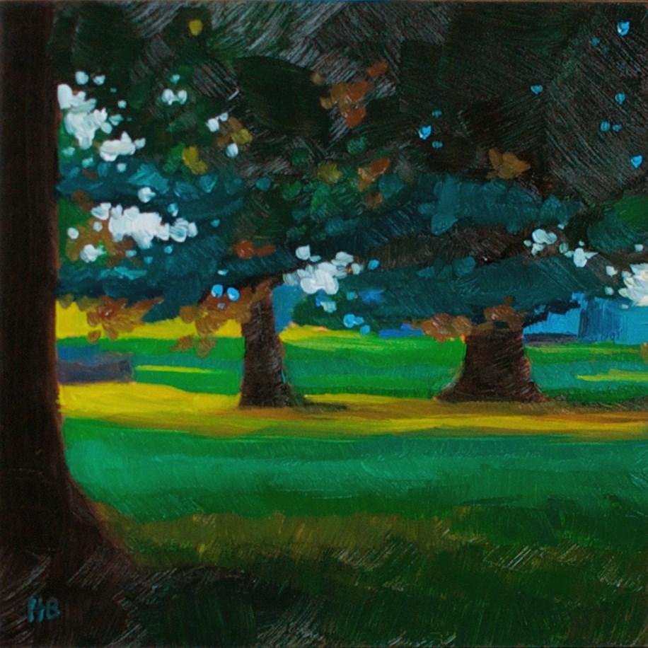 """Shades of Green"" original fine art by Heather Bullach"