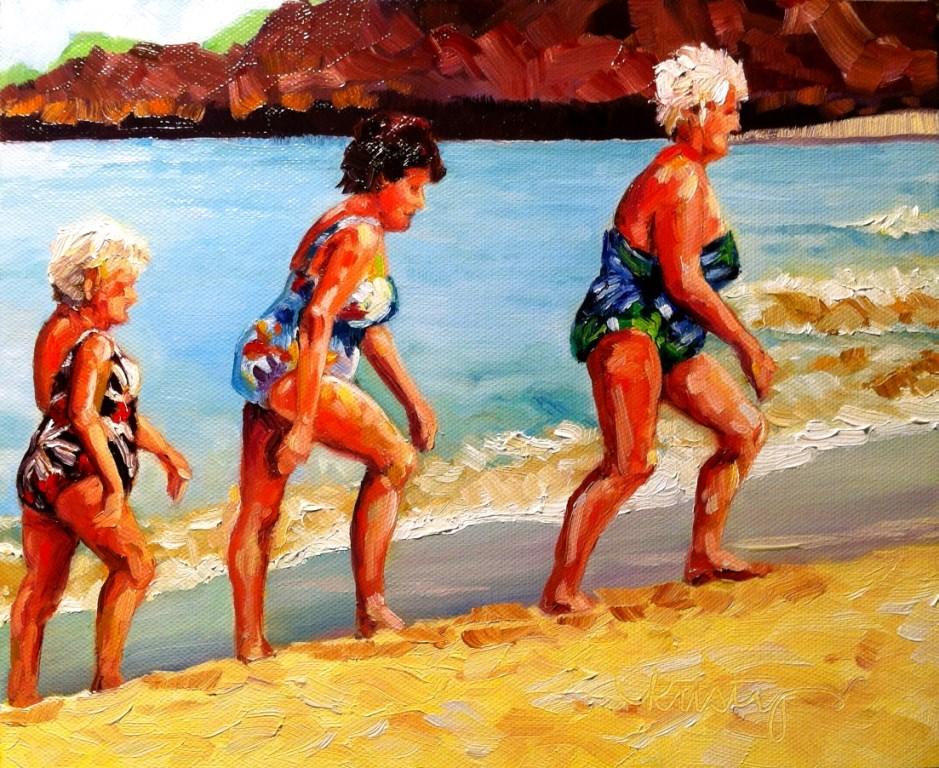 """""""BATHING BEAUTIES"""" original fine art by Kristy Tracy"""