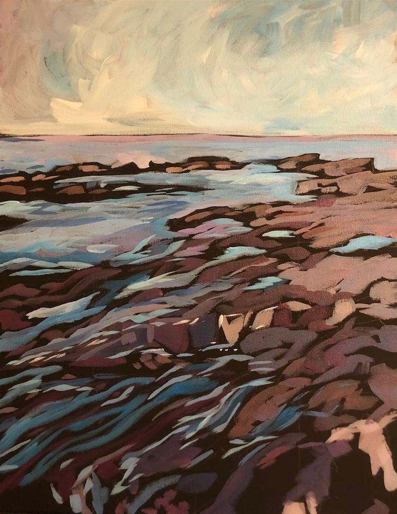 """Northern Stone Shore"" original fine art by Kat Corrigan"