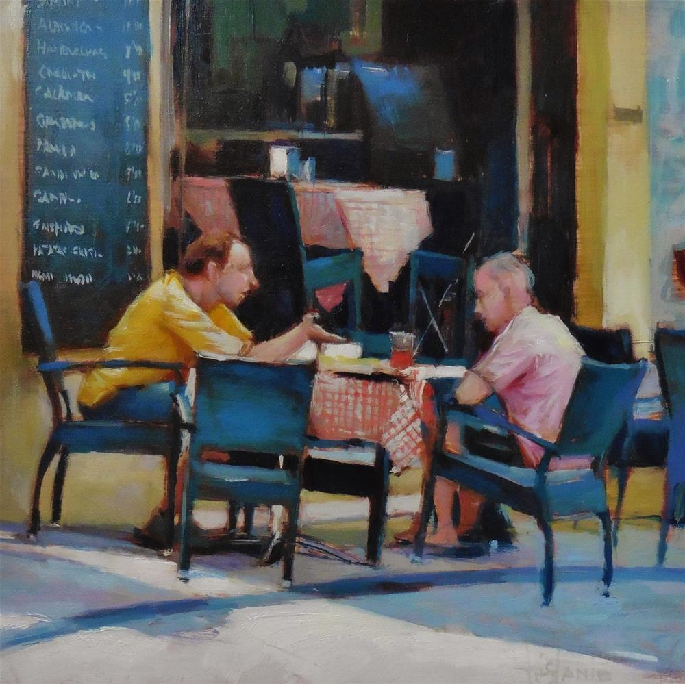 """Conversation"" original fine art by Víctor Tristante"