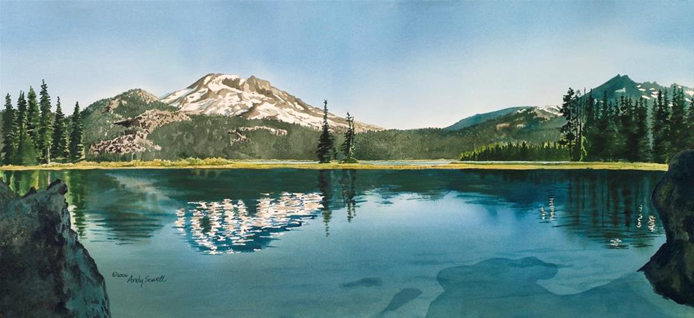 """A Place of Peace ~ Sparks Lake, Bend OR"" original fine art by Andy Sewell"
