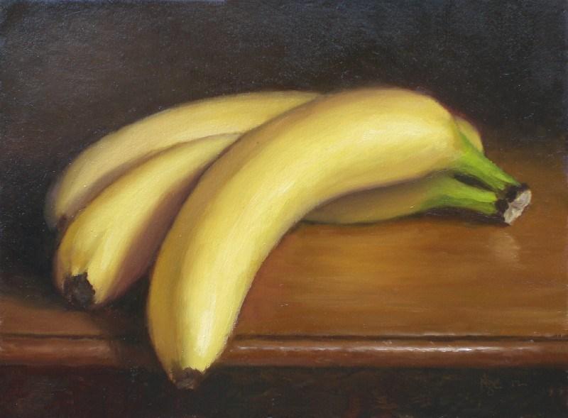 """Three Bananas"" original fine art by Debra Becks Cooper"