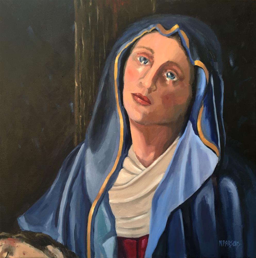 """Mother of Sorrows"" original fine art by Nancy Parsons"