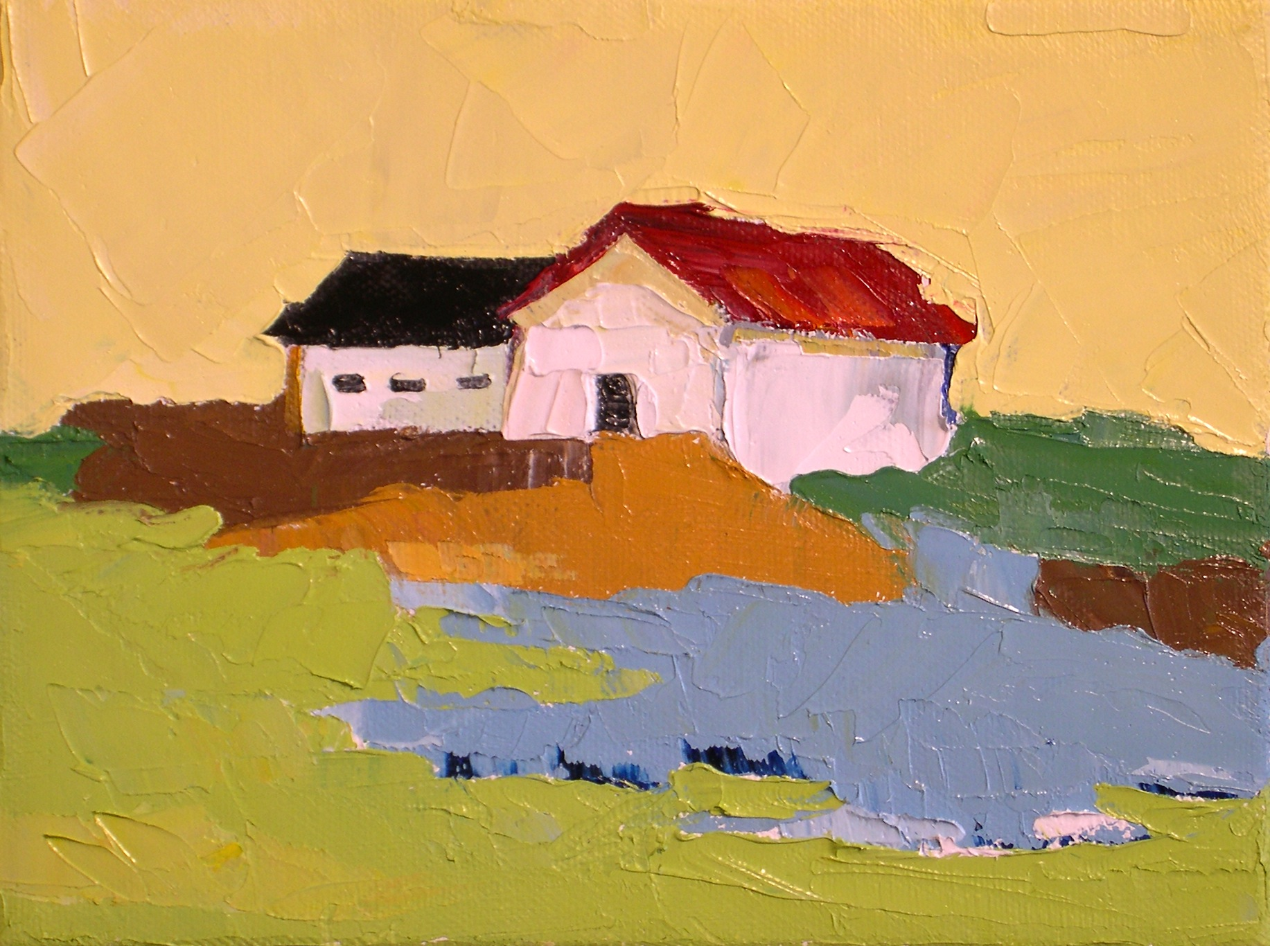 """Simple Living"" original fine art by Donna Walker"