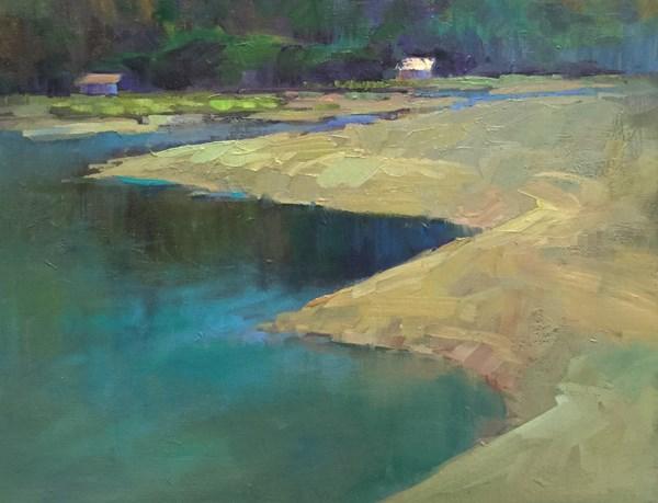 """Looking South from Whalen Island"" original fine art by Patti McNutt"