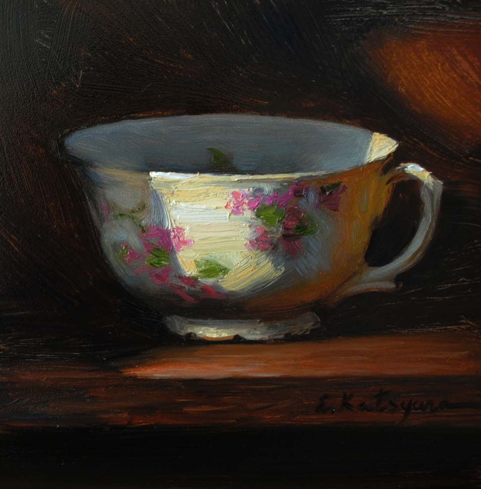 """Teacup"" original fine art by Elena Katsyura"