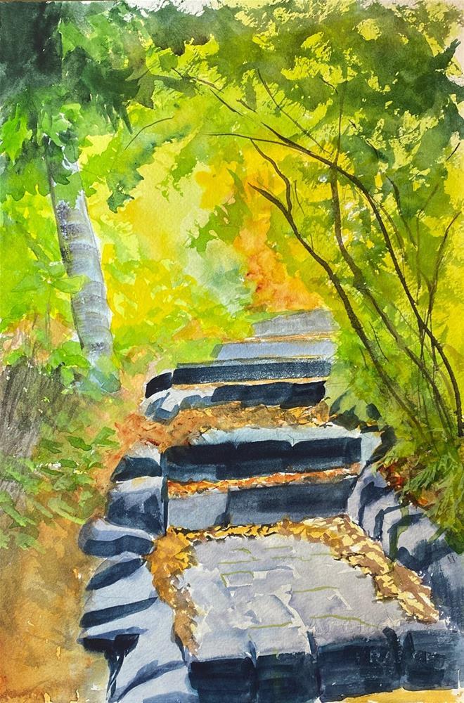"""""""Walkway"""" original fine art by Bunny Griffeth"""