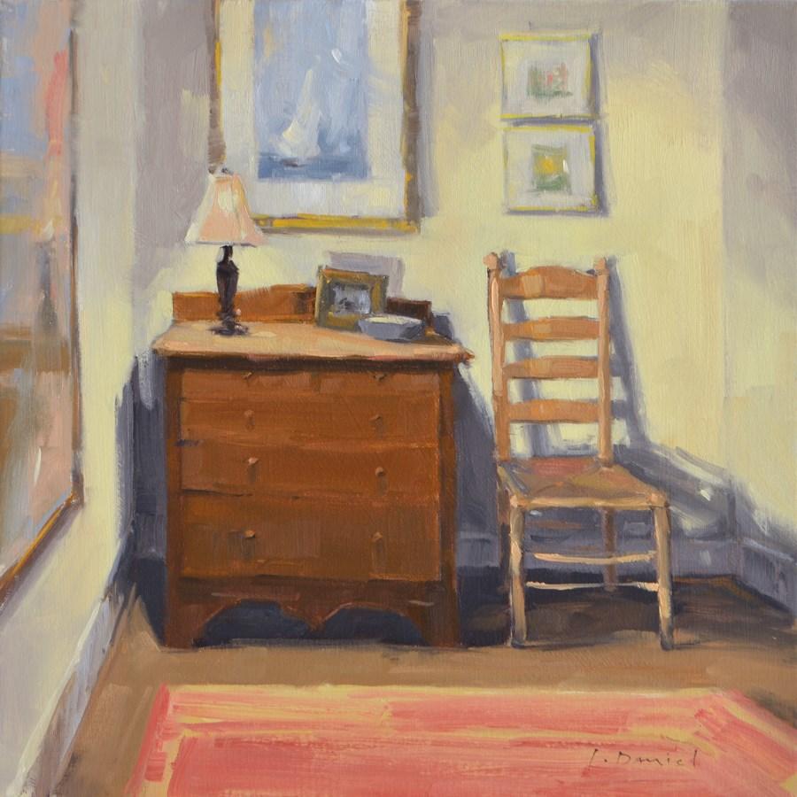 """""""Bedroom Nook - Show Tip #24"""" original fine art by Laurel Daniel"""