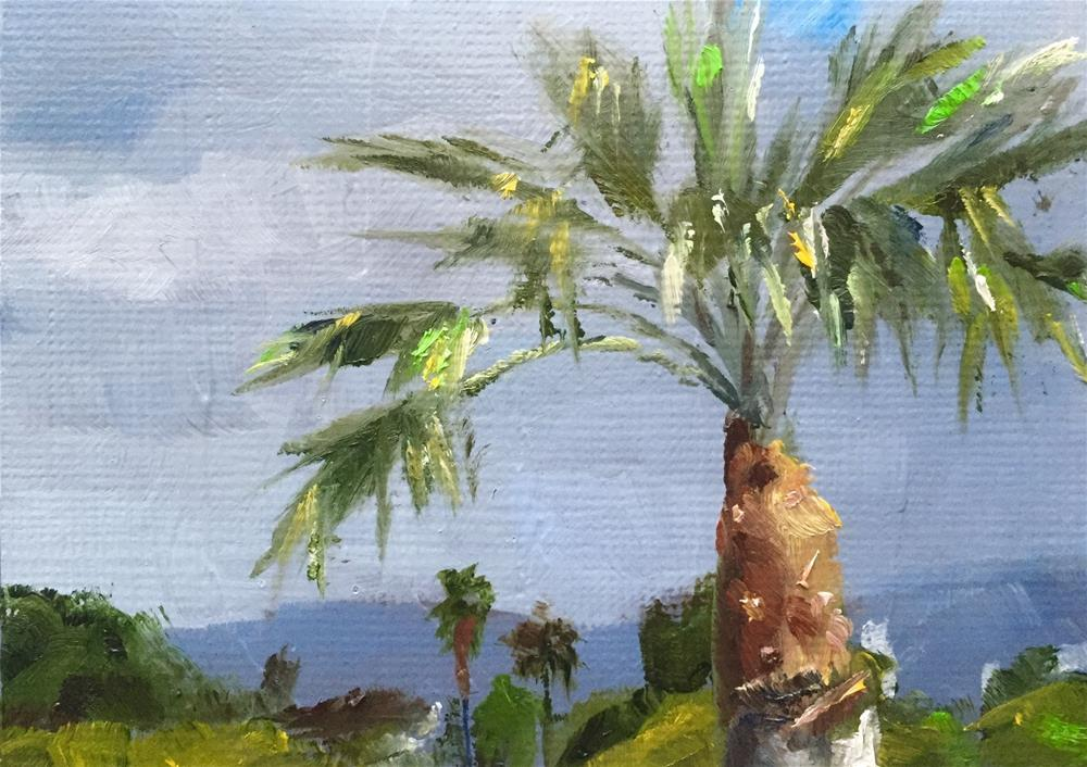 """West LA Treetops"" original fine art by Gary Bruton"