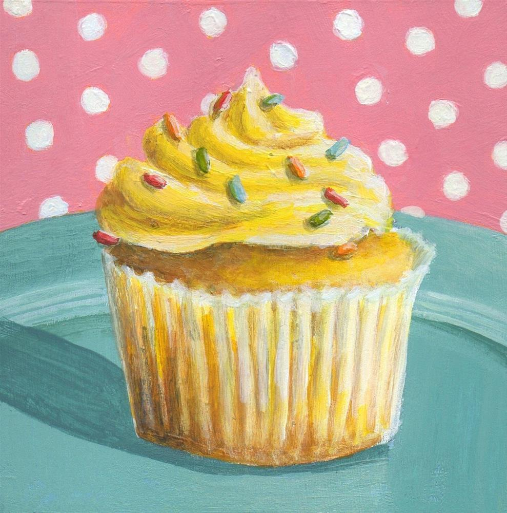 """Cupcake #3"" original fine art by Debbie Shirley"