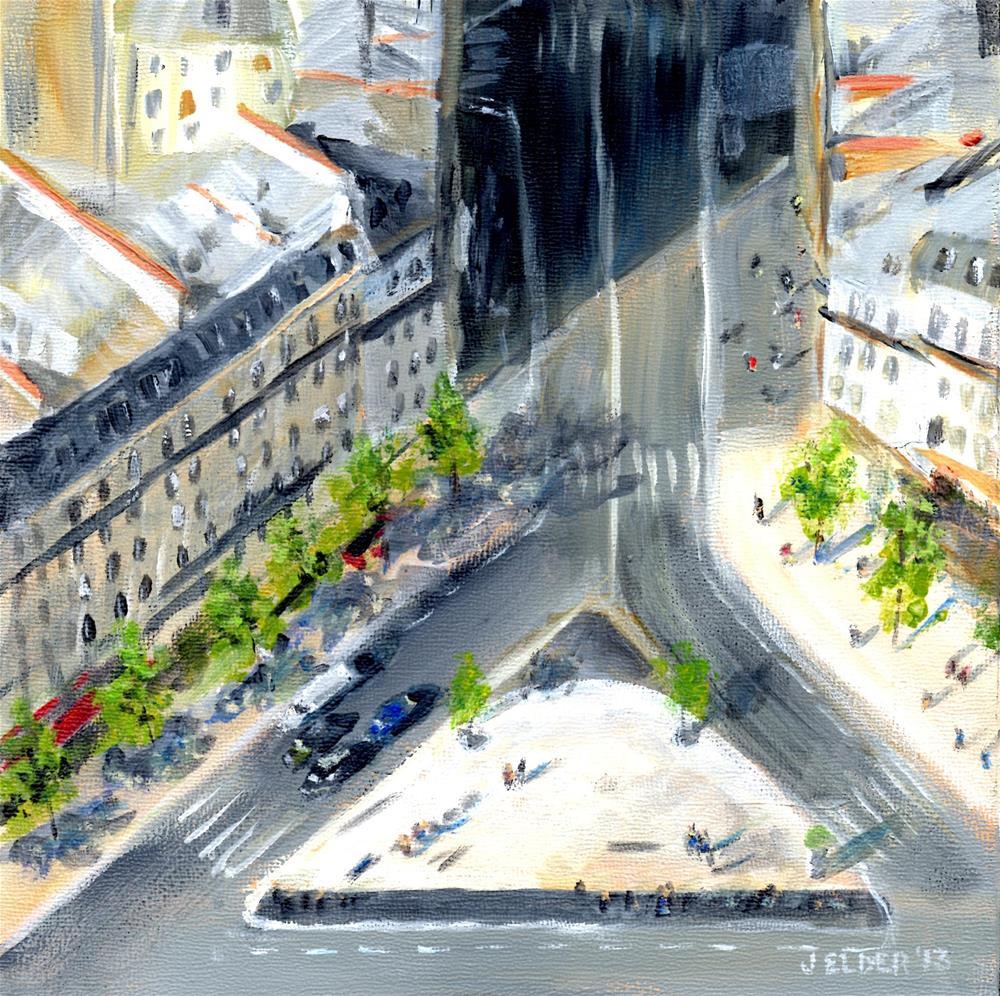 """Paris No. 9"" original fine art by Judith Elder"