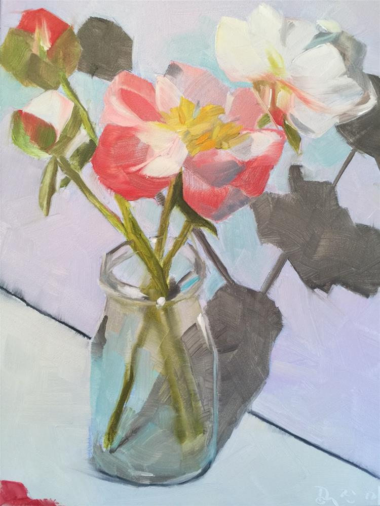 """""""240 First Peonies"""" original fine art by Jenny Doh"""