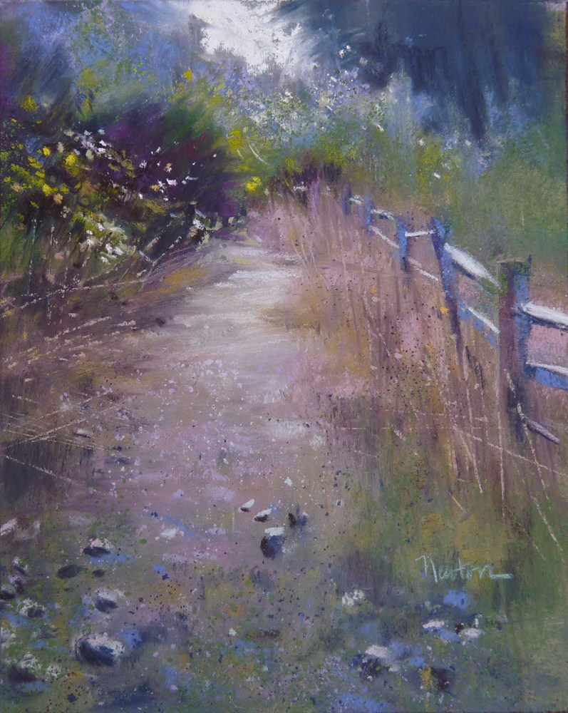 """""""Study for a larger work - Stony Path."""" original fine art by Barbara Benedetti Newton"""