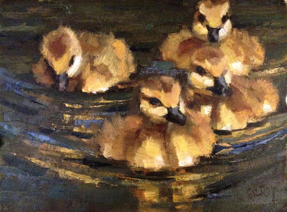 """Bobbing Along"" original fine art by denise gilroy"