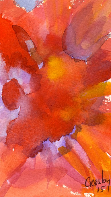 """""""Inside The Floral"""" original fine art by Donna Crosby"""
