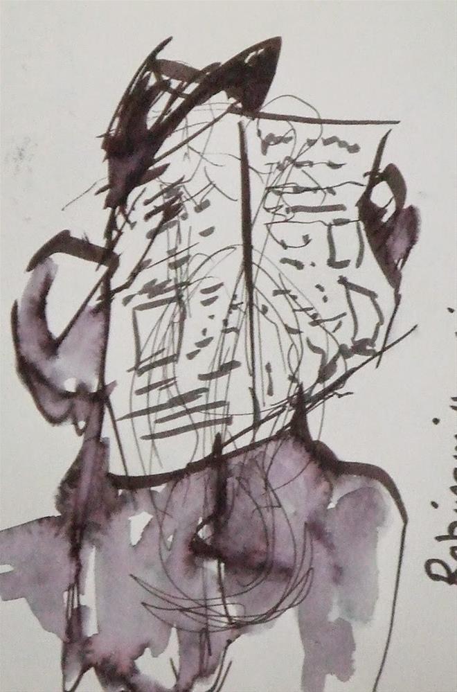 """""""Black hat"""" original fine art by Mitsuru Cope"""