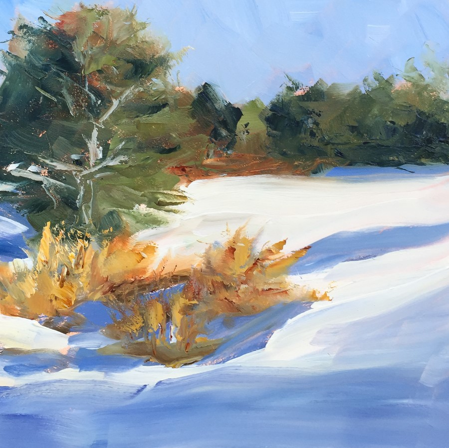 """#110 - Small Ravine - Freeport, ME"" original fine art by Sara Gray"