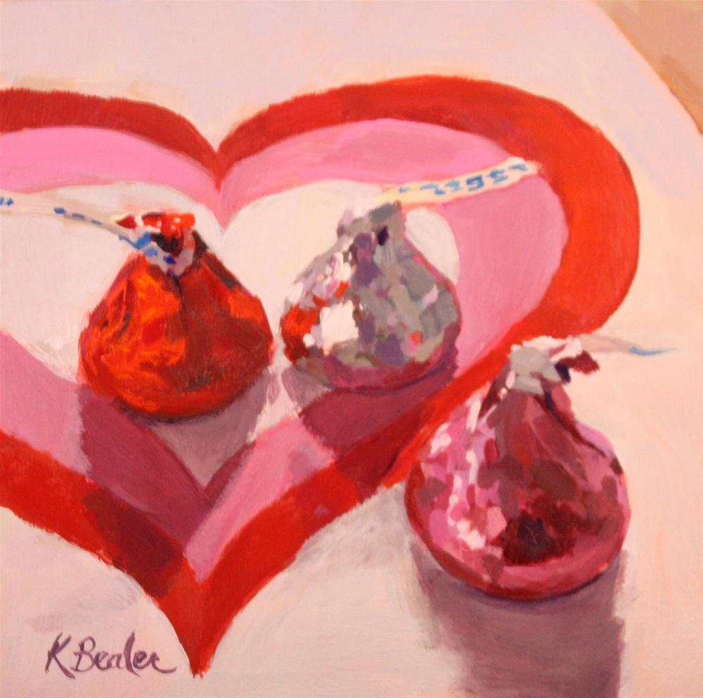 """Three Kisses"" original fine art by Kaethe Bealer"