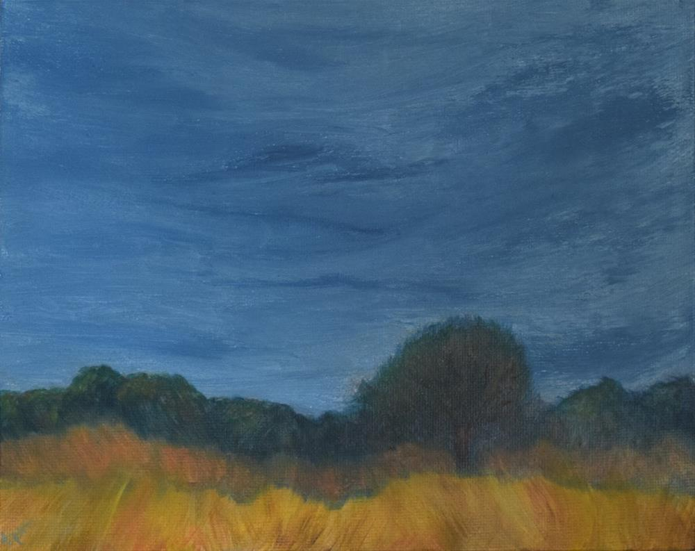 """Autumn Skies"" original fine art by Tisha Mark"