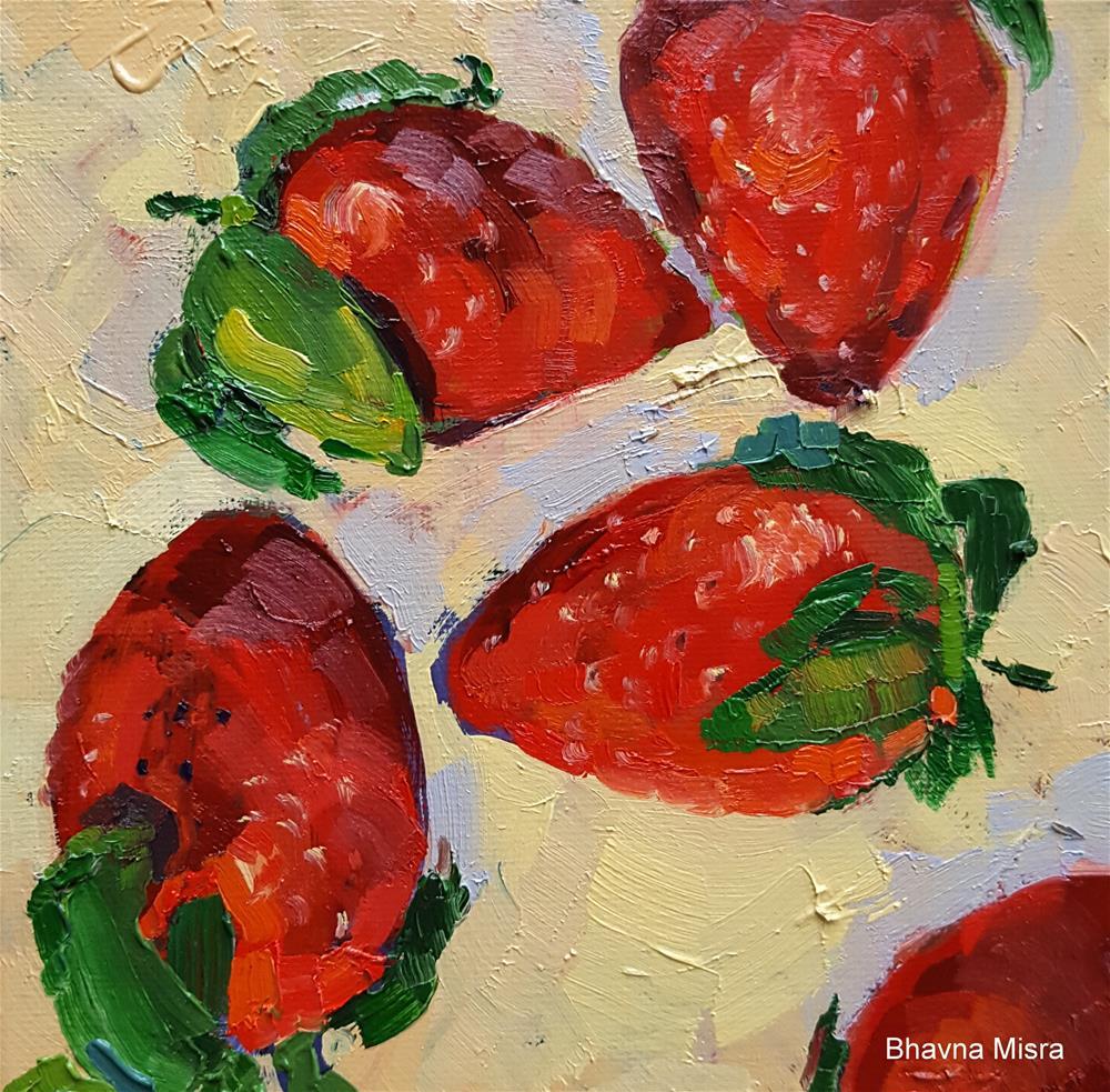 """Fresh from Farmer's Market"" original fine art by Bhavna Misra"