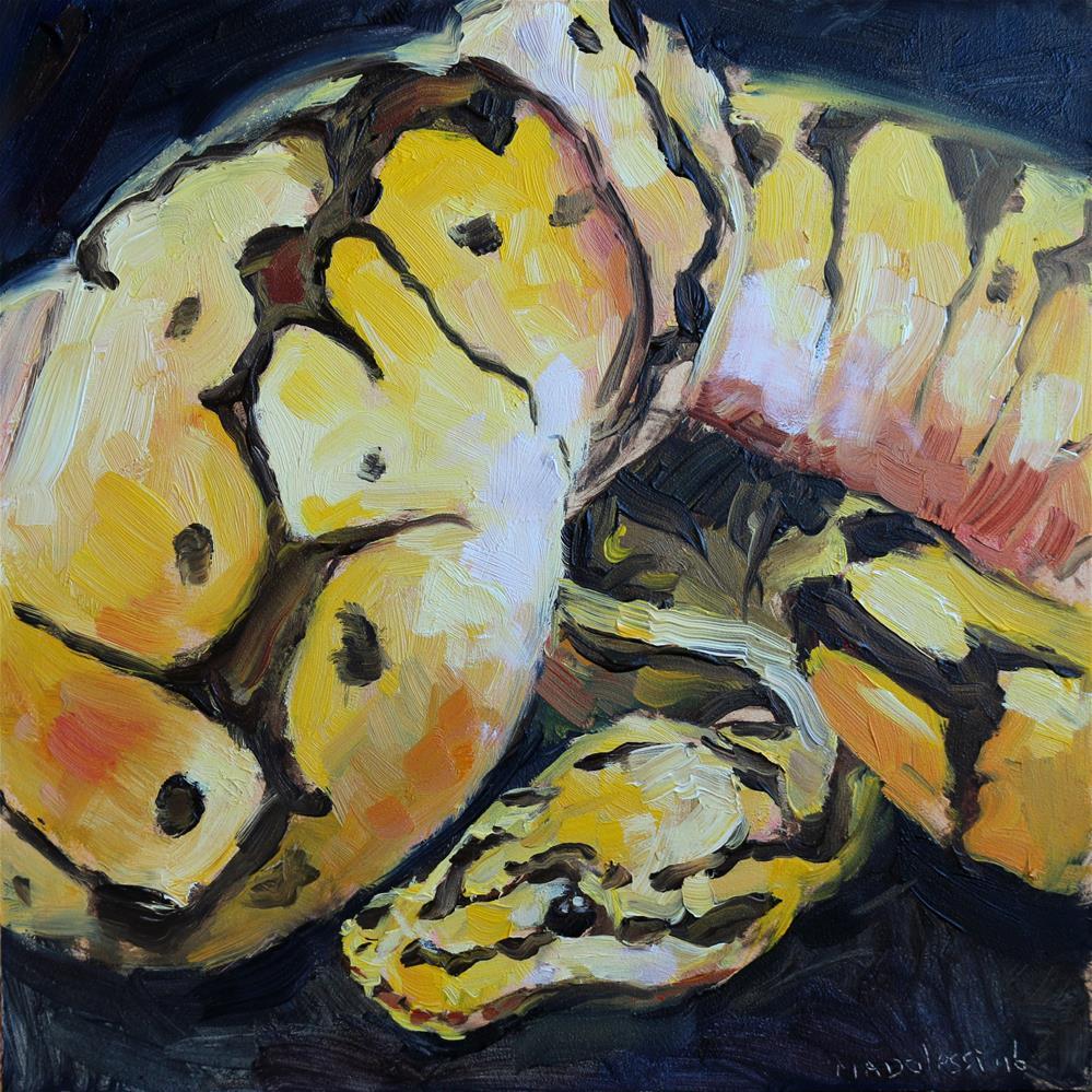 """Ball python"" original fine art by Miranda Dalessi"
