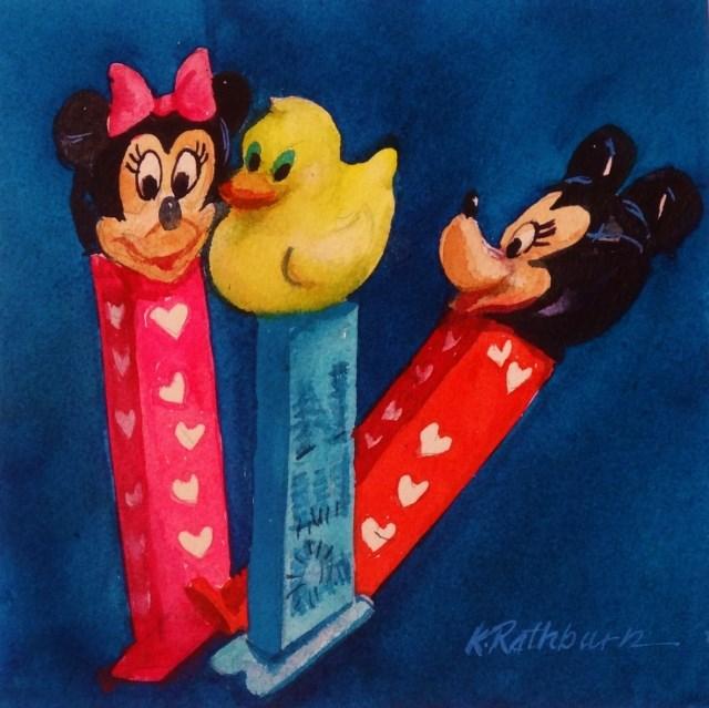 """My Favorite Toys"" original fine art by Kathy Los-Rathburn"
