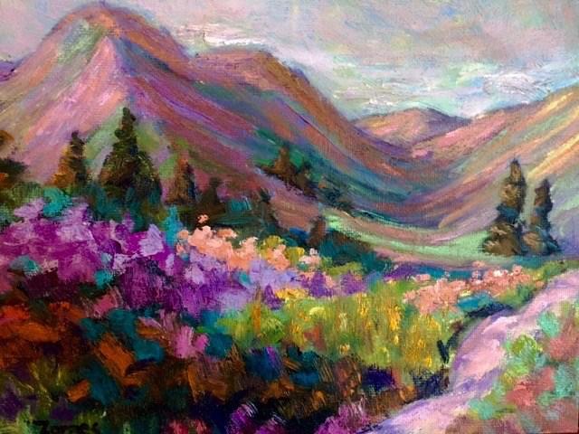 """Park Trail"" original fine art by Liz Zornes"