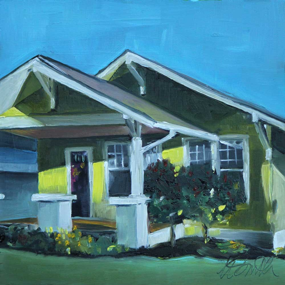"""bungalow on linden street"" original fine art by Kim Smith"