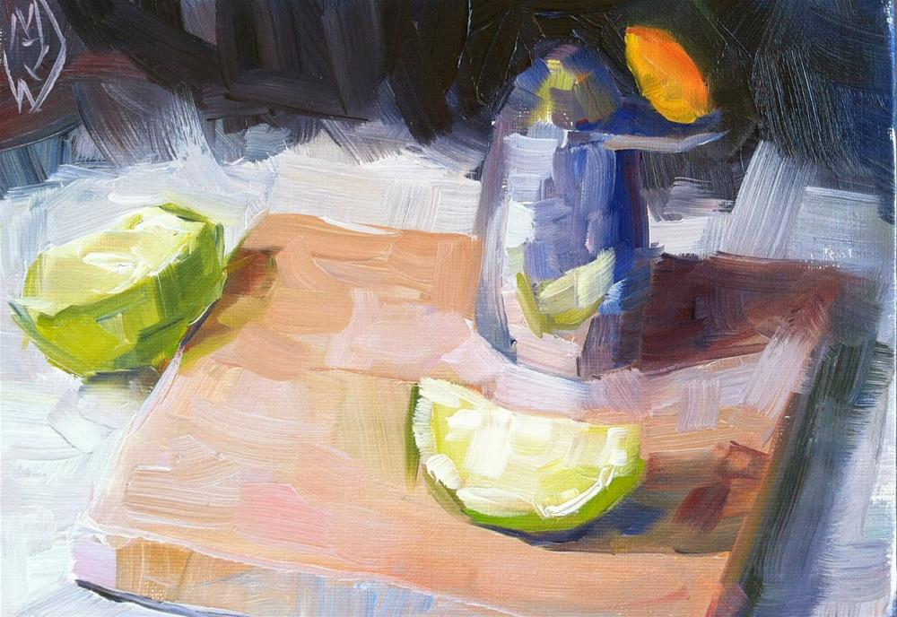 """Pepper Shaker and Lime"" original fine art by Michael Williamson"