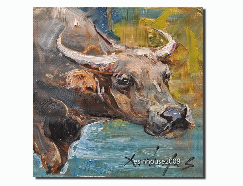 """buffalo"" original fine art by Thomas Xie"