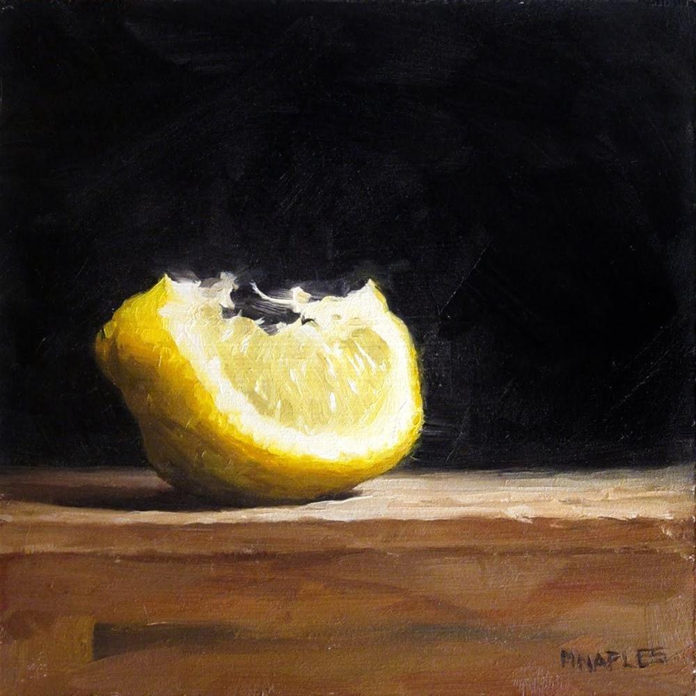 """""""Lit Up Lemon Wedge"""" original fine art by Michael Naples"""