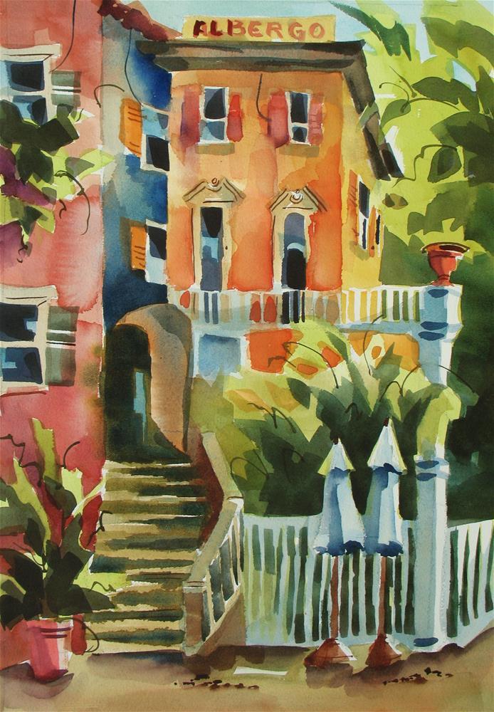 """Albrego's Camogli, Italy"" original fine art by Jinnie May"